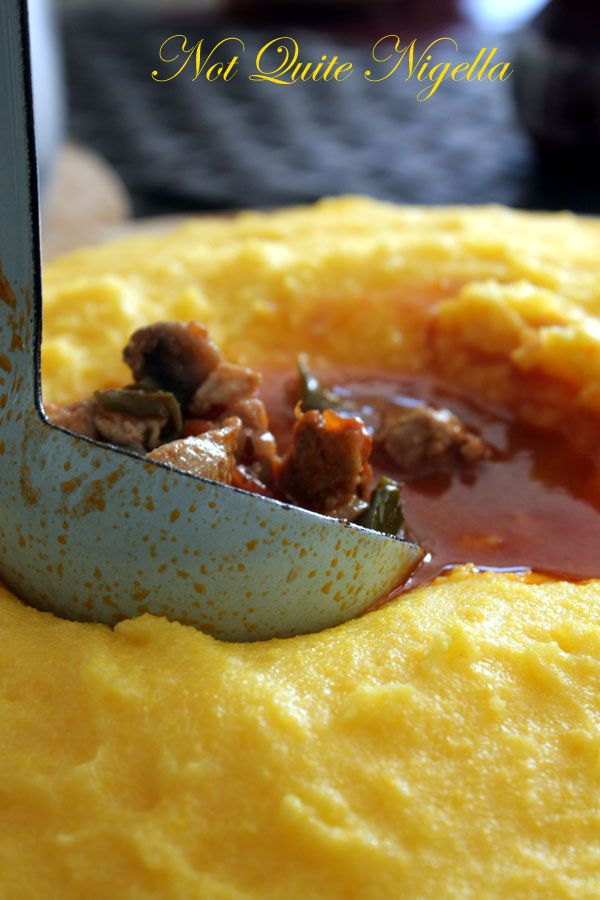 Polenta on the table