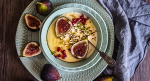 5 Minute Polenta Porridge with Figs {Gluten Free}