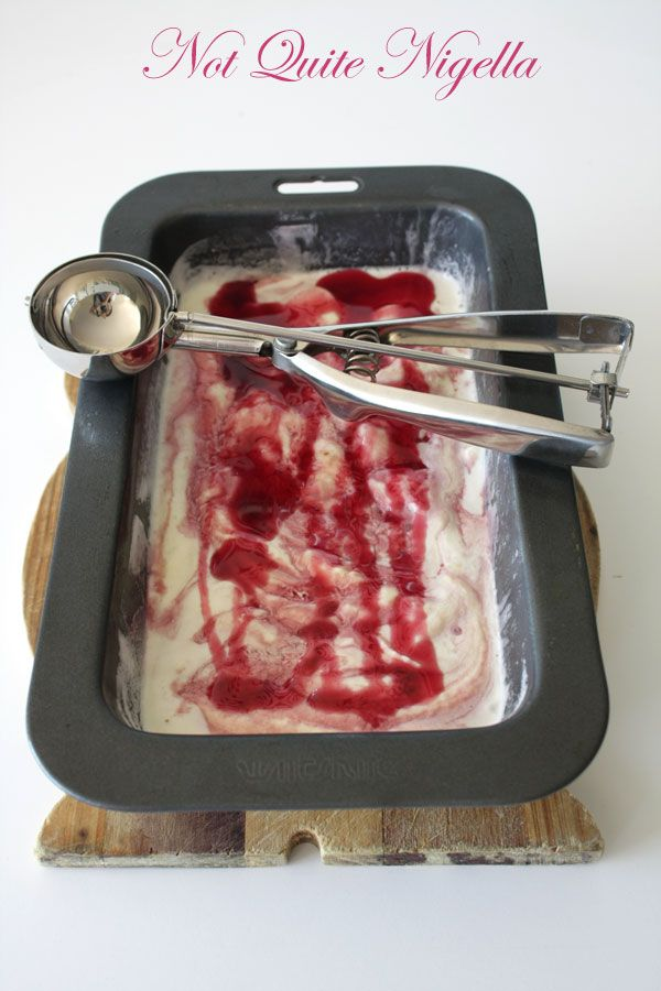 Pomegranate Swirl Ice Cream
