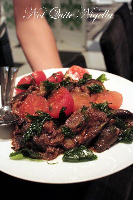 merivale, pop up dinner, eggplant