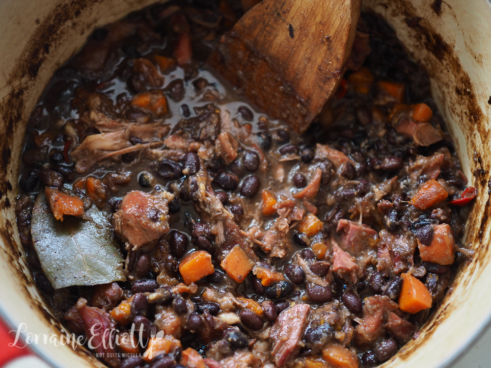 Black Bean Ham Hock Stew