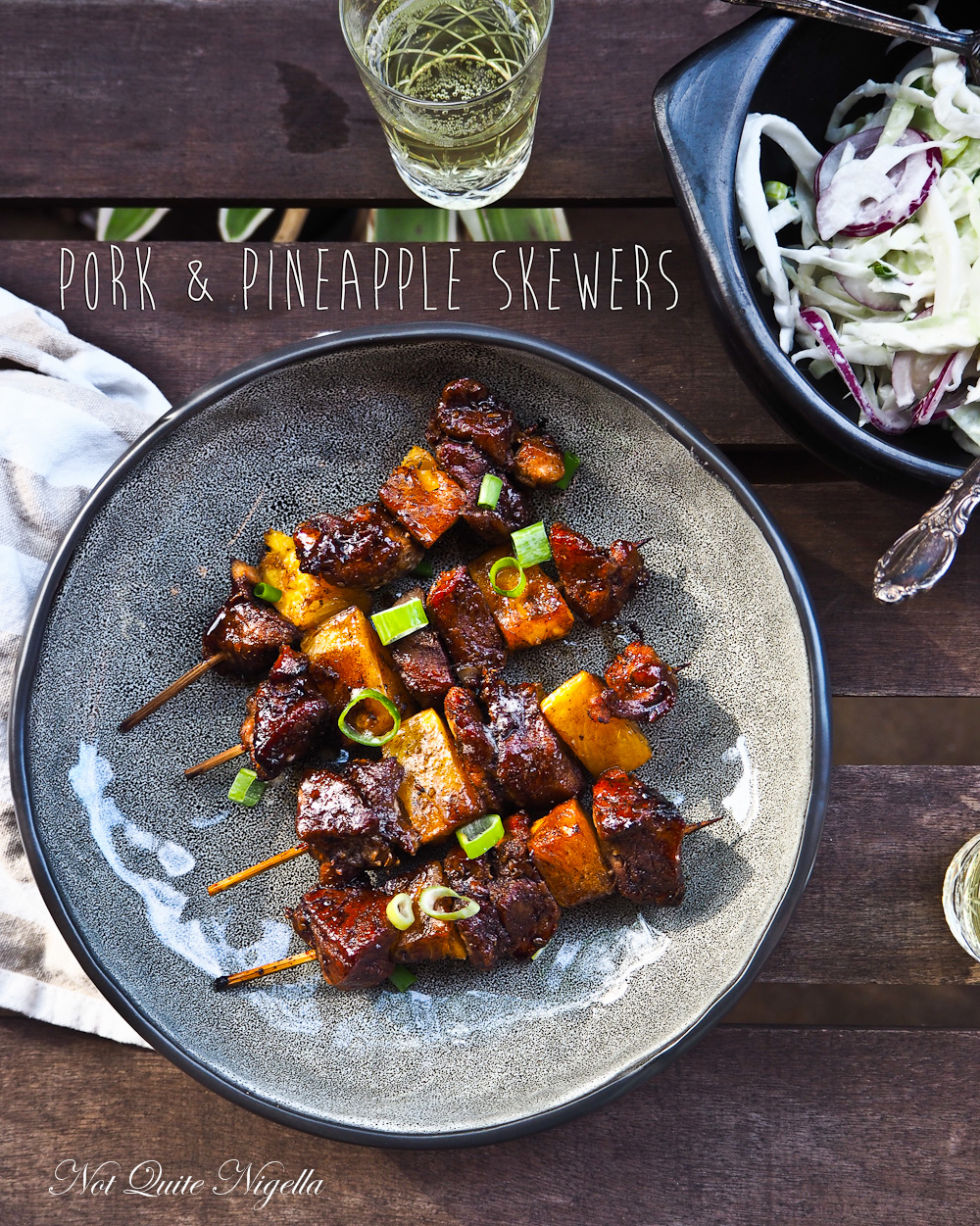 Pork Pineapple Skewers