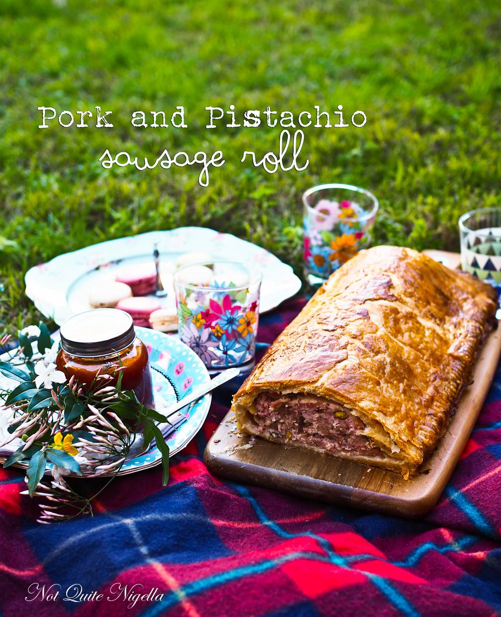 Pork and pistachio sausage roll