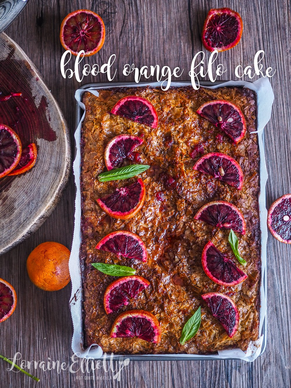 Portokalopita Greek Filo Blood Orange Cake