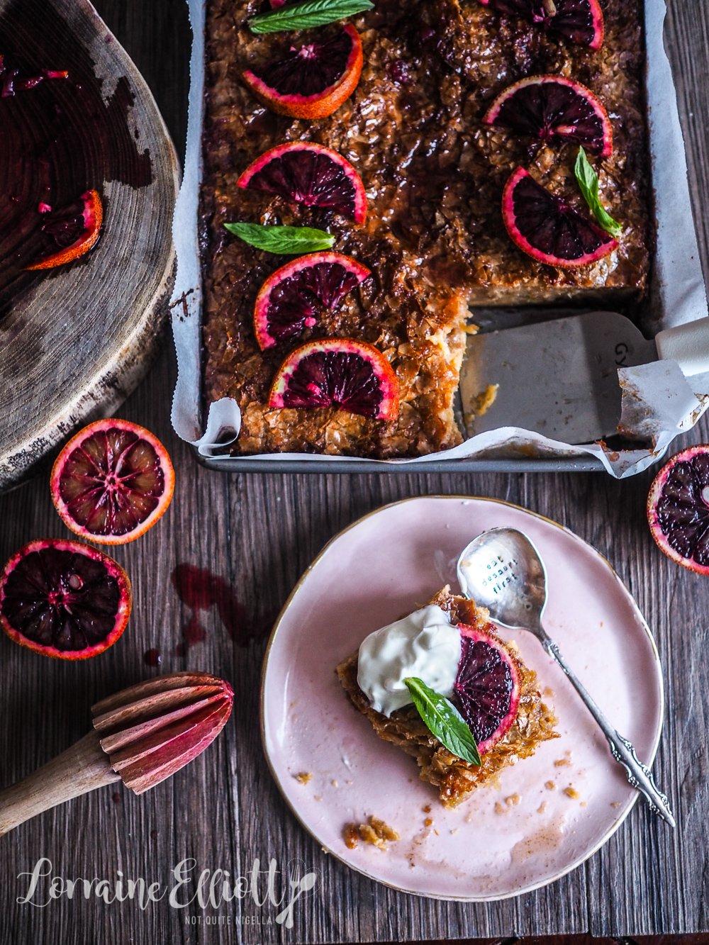 Portokalopita Greek Filo Blood Orange Cake