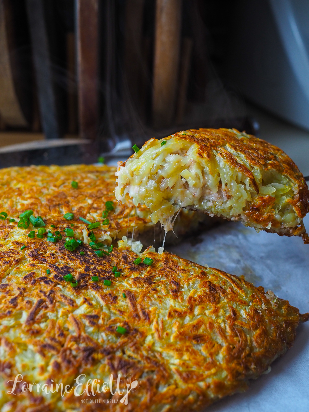 Potato Rosti Stuffed With Bacon & Cheese