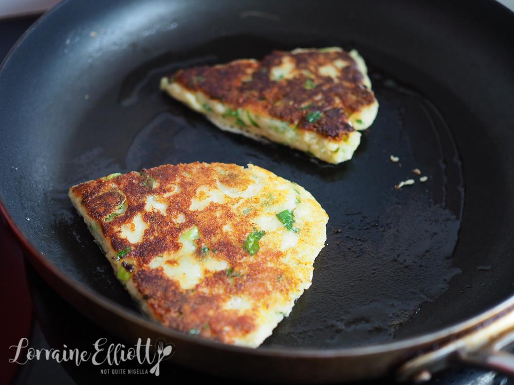 Scottish Potato Scones, Smoked Salmon & Fresh Corn Salad
