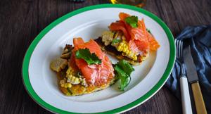 Snazzy Tatties! Scottish Potato Scones, Smoked Salmon & Fresh Corn Salad