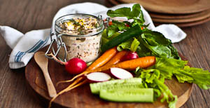 Christmas Entertaining: Potted Crab With Crunchy Crudites