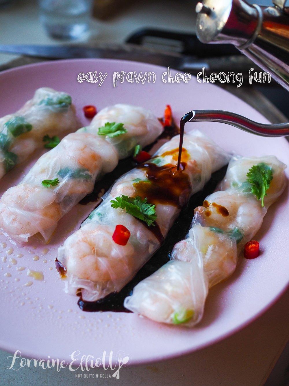 dim sum chee cheong fun prawn roll hack  not quite nigella