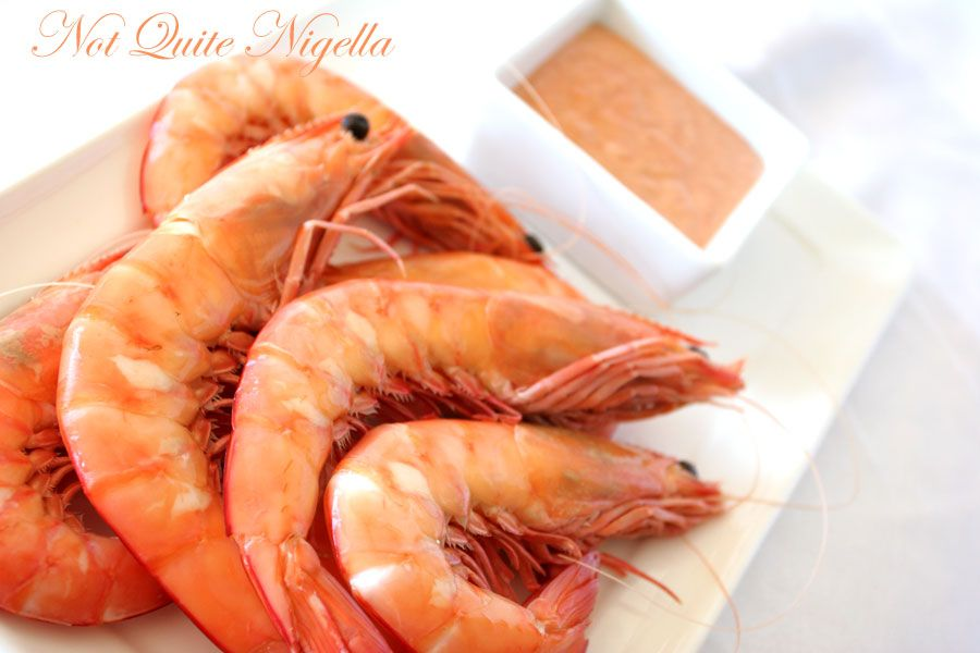 Prawns with Maryam Zaira Sauce