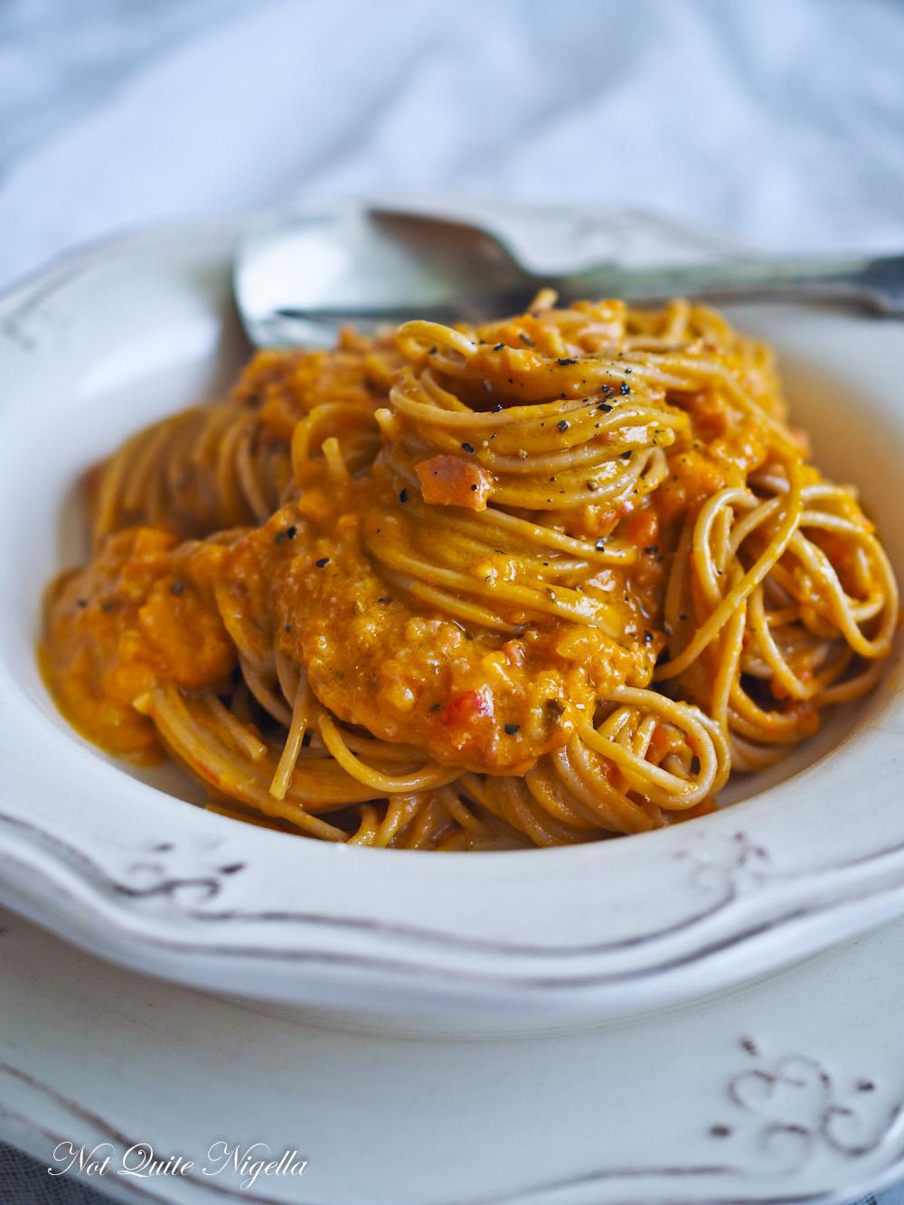 Pumpkin Bacon Spaghetti Sauce