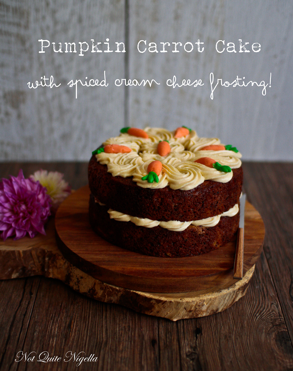 Pumpkin Carrot Cake With Spiced Cream Cheese Frosting Not Quite