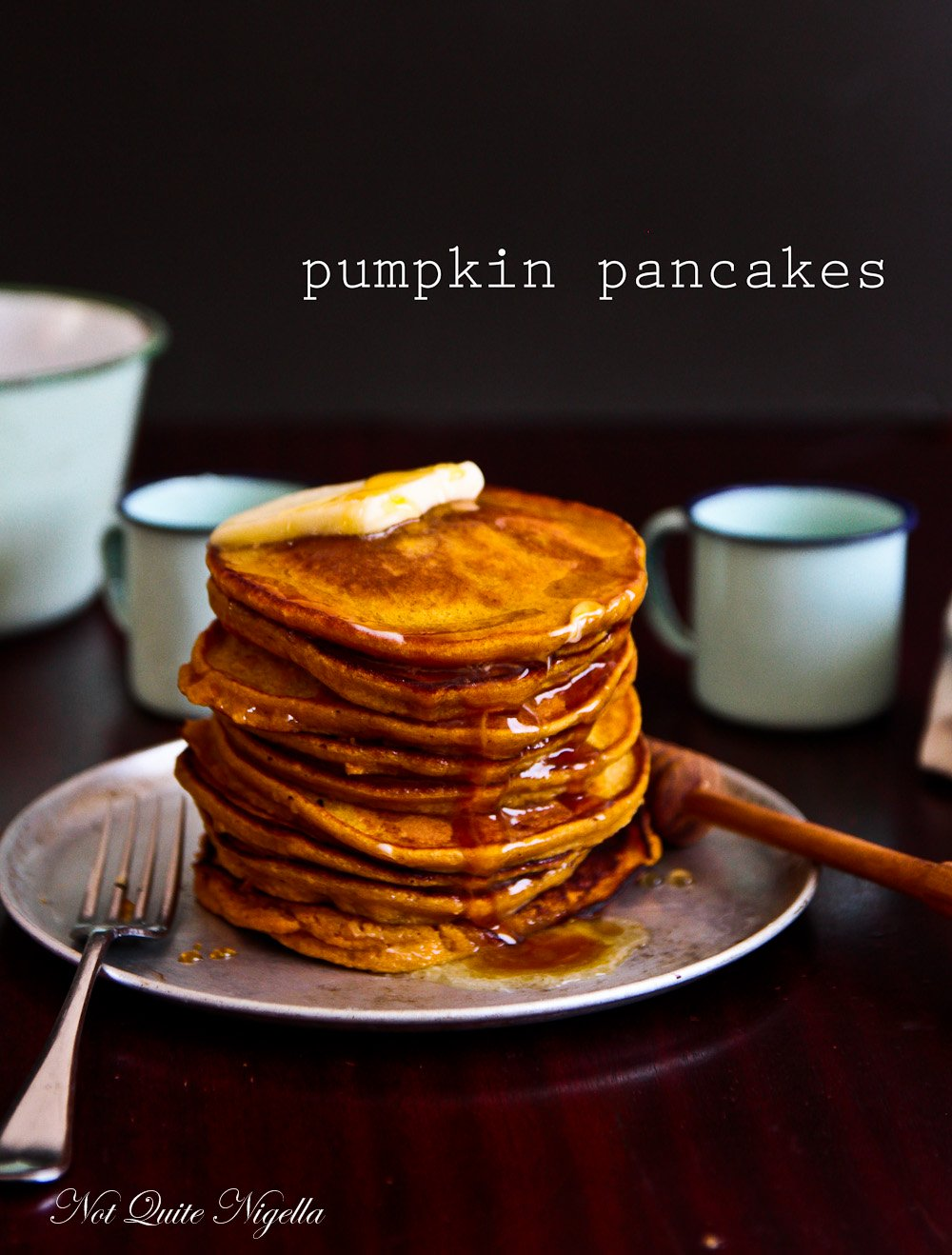 Pumpkin Honey Pancakes