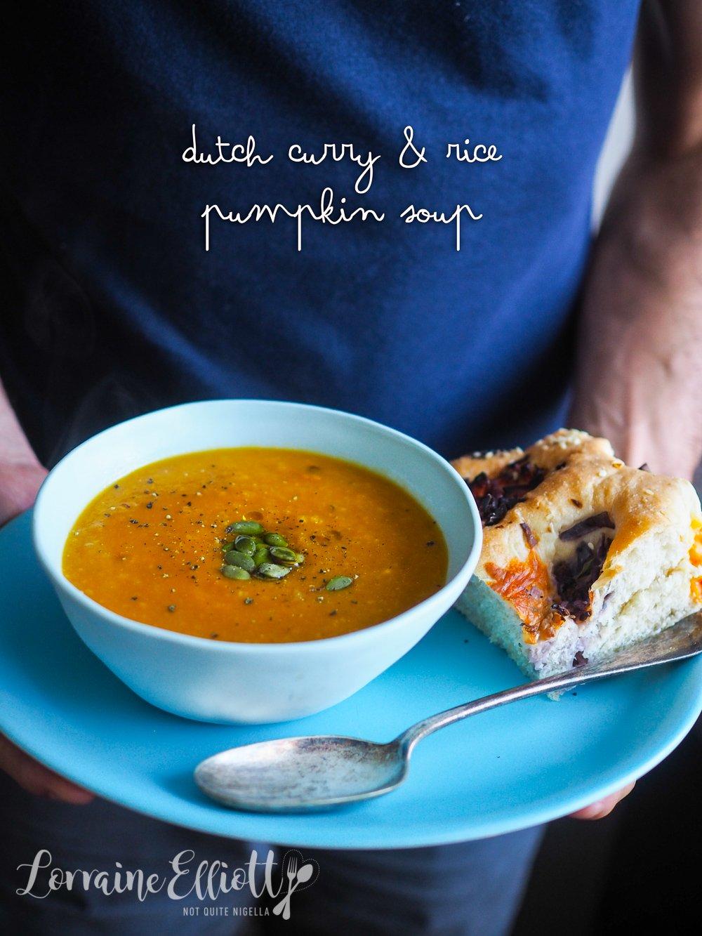 Dutch Curry & Rice Pumpkin Soup