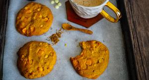 You're Gourd-geous! Pumpkin Spice Choc Chip Cookies