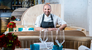 Greece Lightning: George Calombaris serving Greek Food on Qatar Airways