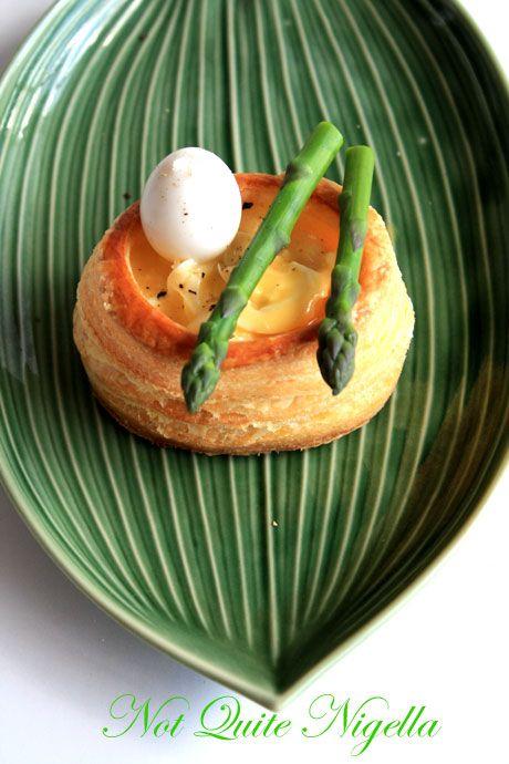 quail egg asparagus vol au vent 2