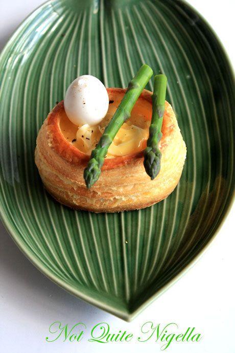 quail egg asparagus vol au vent 4