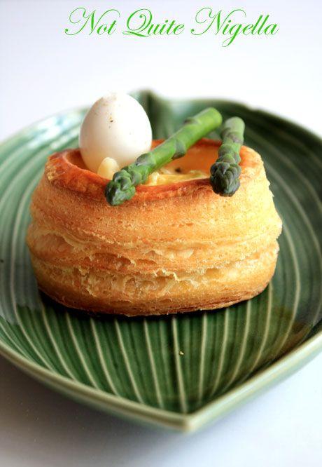 quail egg asparagus vol au vent 5