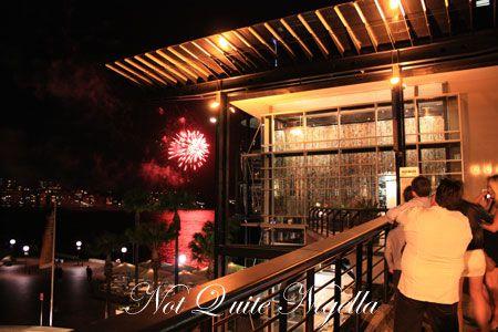 quay restaurant fireworks