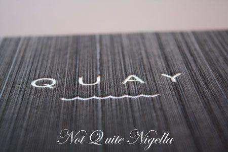 quay restaurant menu