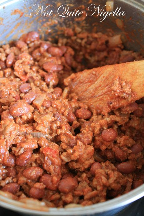 cooking mince beans