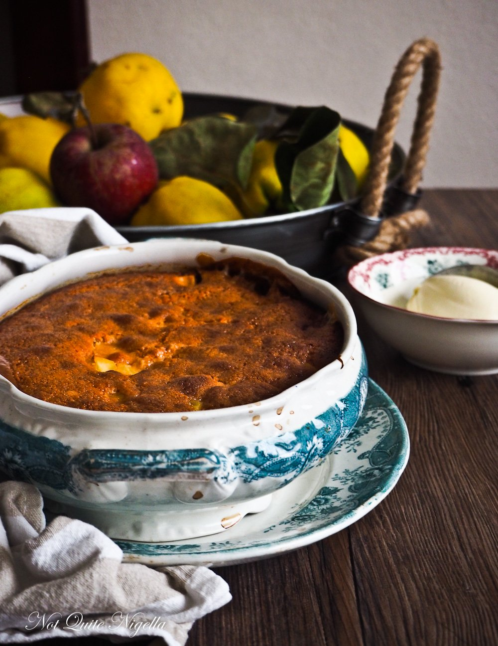 Quince Golden Syrup Pudding