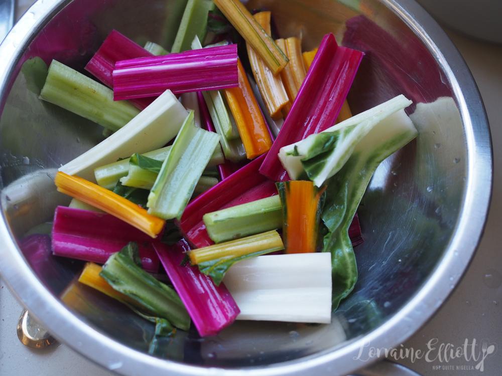 Rainbow chard zucchini flower recipe