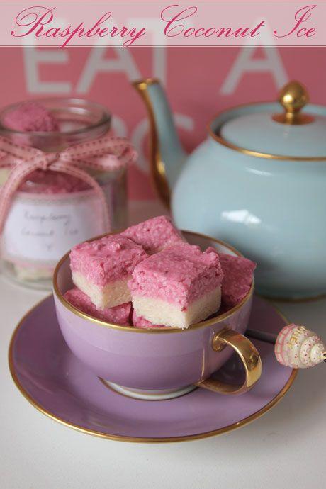 raspberry coconut ice