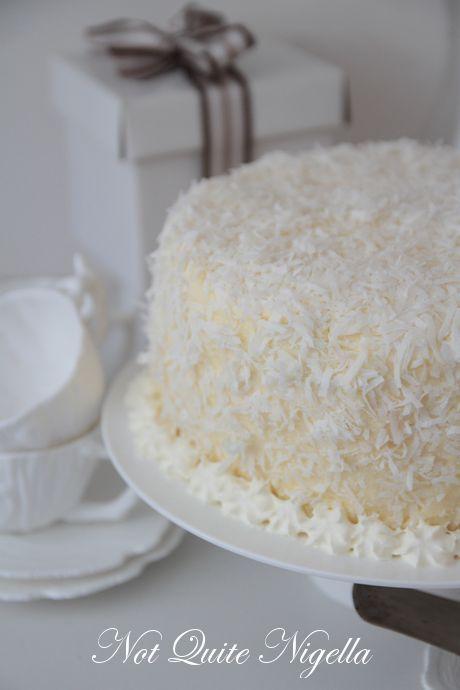 raspberry coconut cake