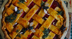 Rotting Raspberry & Coconut Pie With Edible Flies!