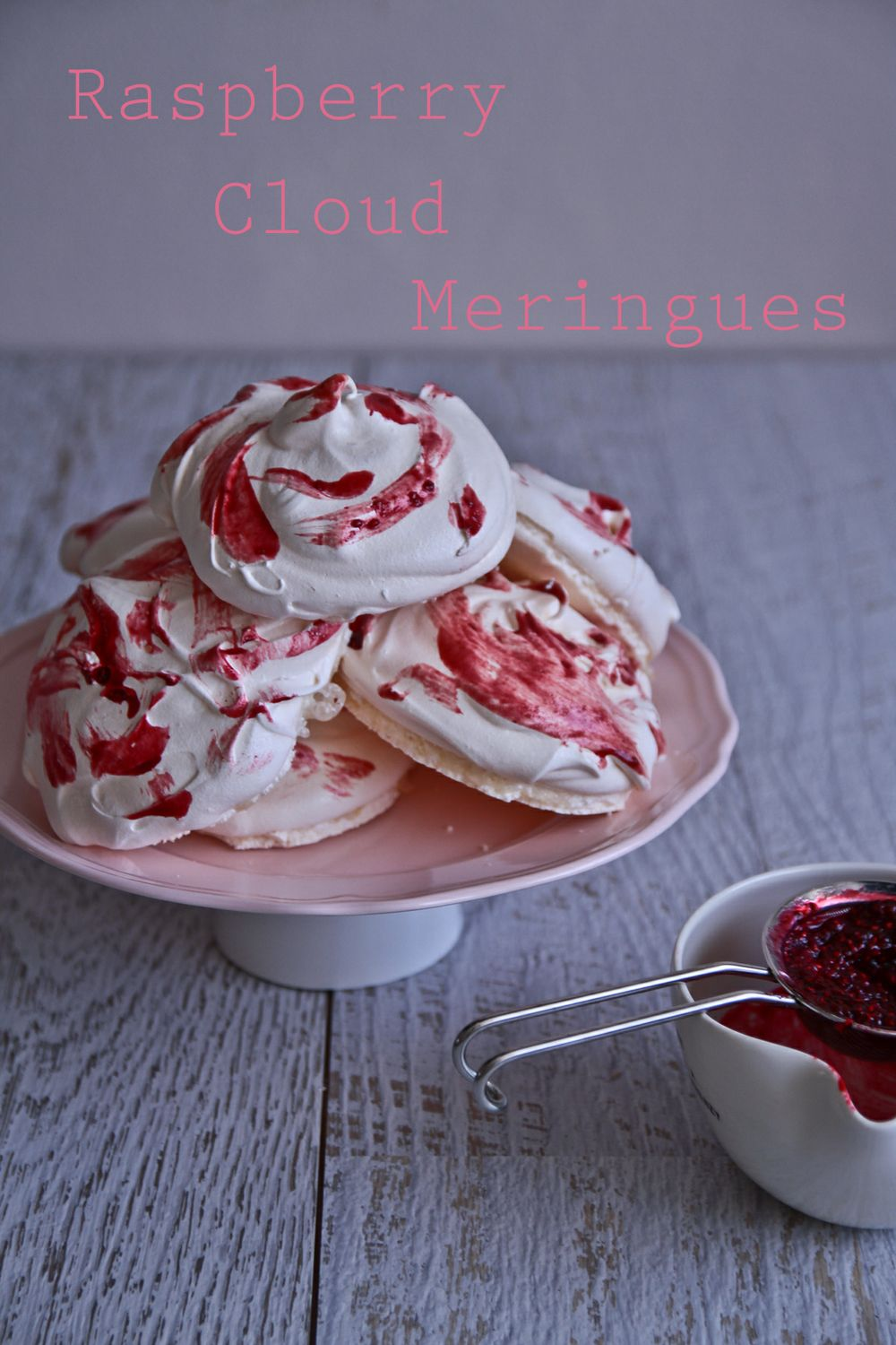 Raspberry Meringue Clouds From Heaven