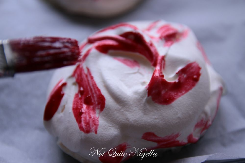 raspberry meringue clouds