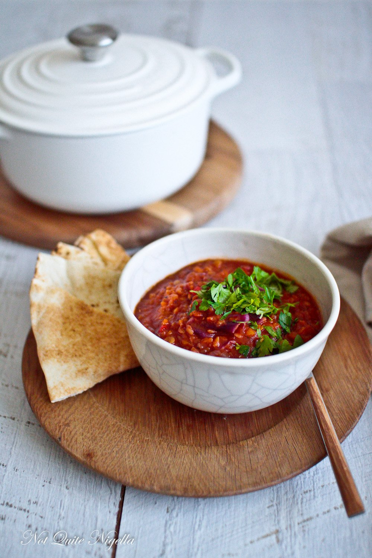 Red Lentil Cabbage Vegetarian Vegan Stew