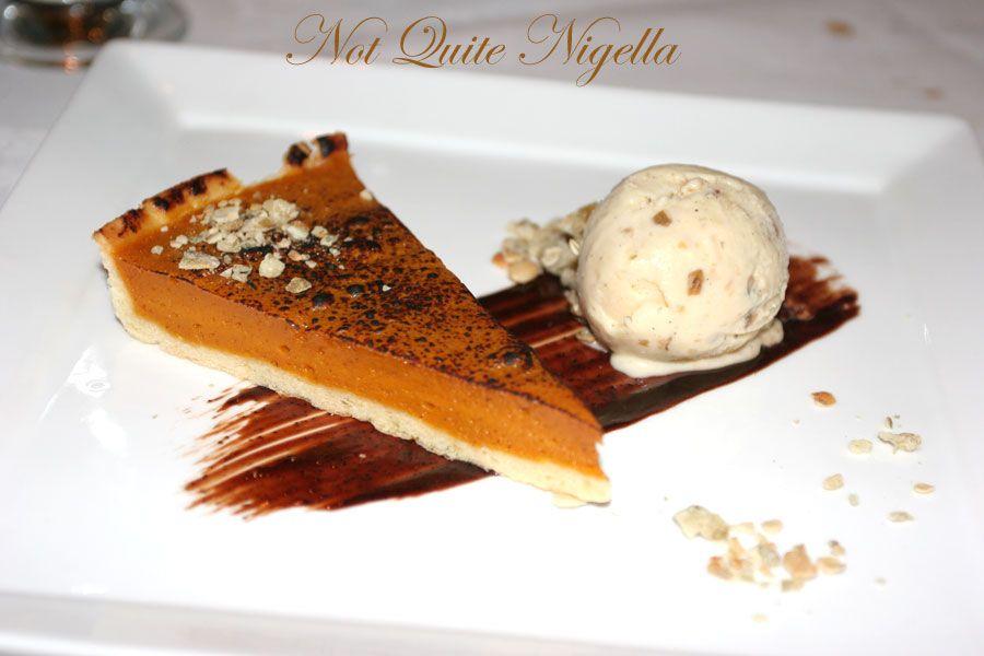 Restaurant Balzac at Randwick Pumpkin pie