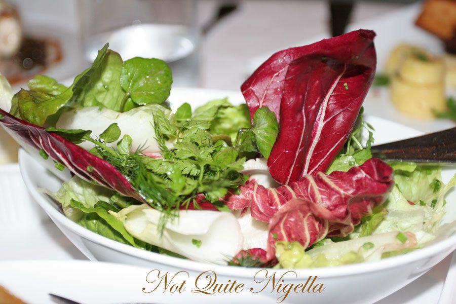 Restaurant Balzac at Randwick mixed salad
