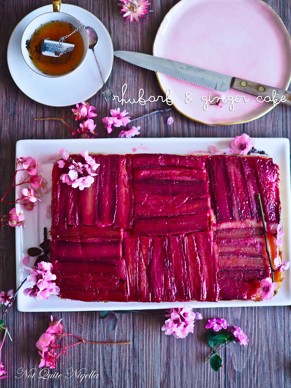 Rhubarb Ginger Cake Recipe