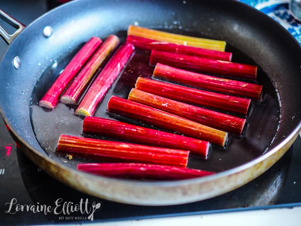 Rhubarb, Raspberry & Ginger Tart