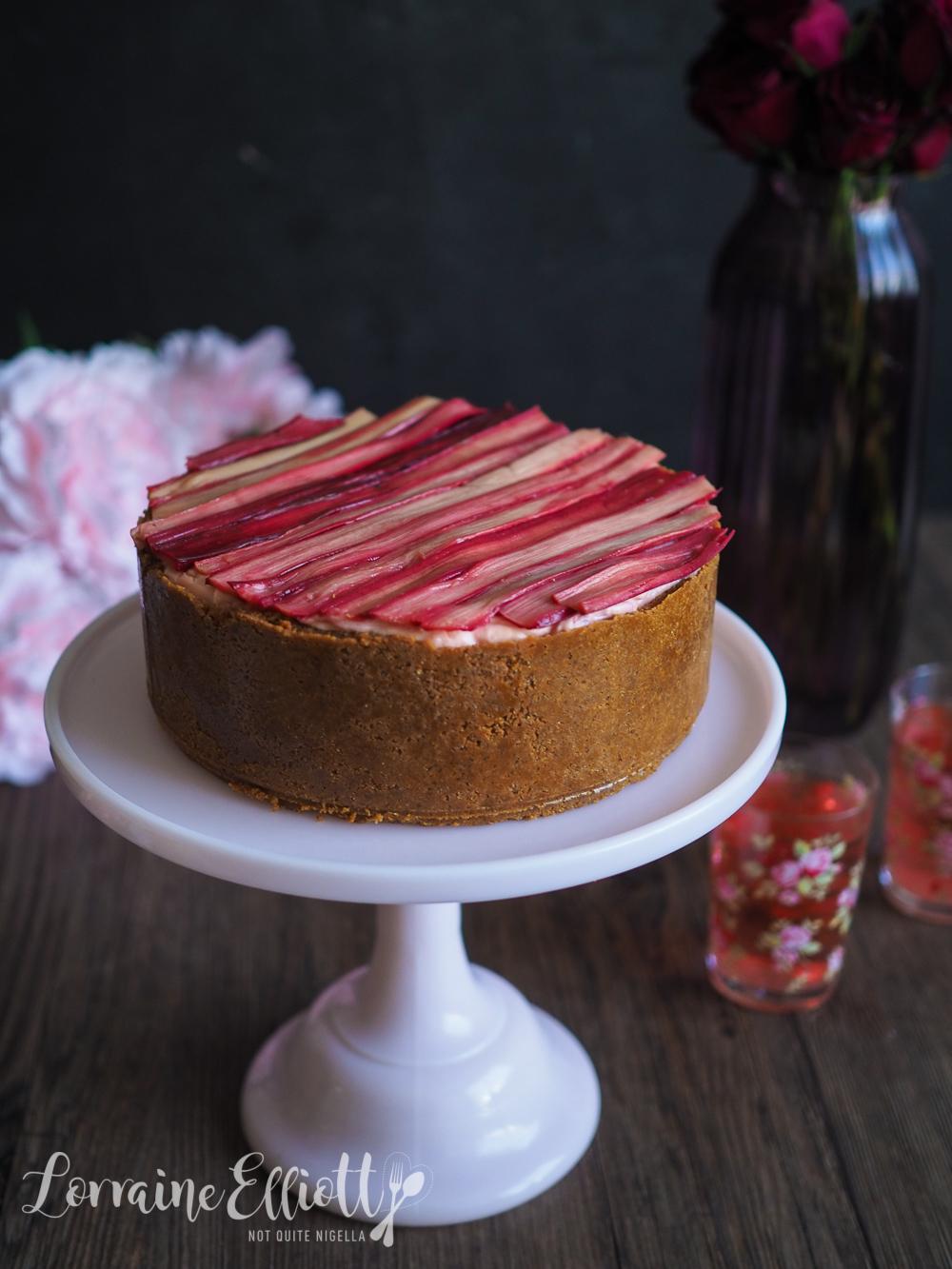 Rhubarb & Ricotta Cheesecake