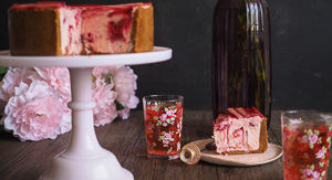 DREAMY Rhubarb, Ricotta & White Chocolate Cheesecake