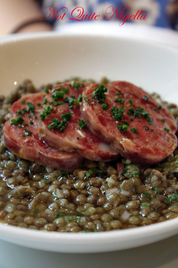 Ribouldingue Paris sausages lentils