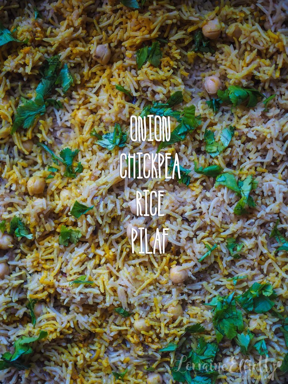 Pilaf recipe onion, chickpea