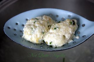 Ricotta & Chive Homemade Gnocchi with browned butter sauce