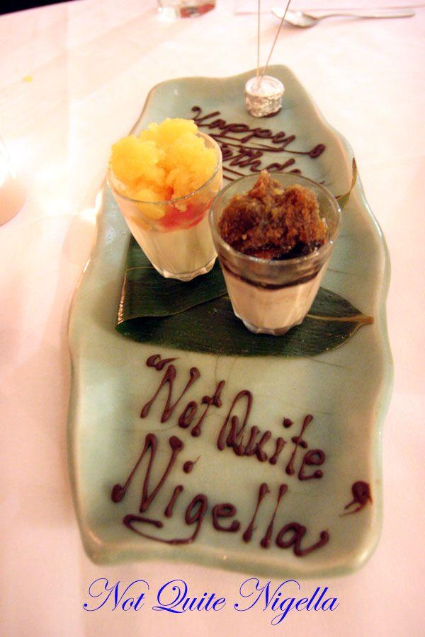 Rise at Darlinghurst Birthday dessert