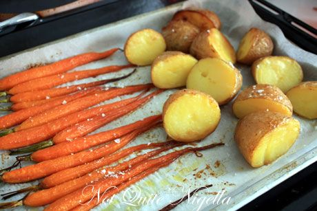 baked carrots potatoes