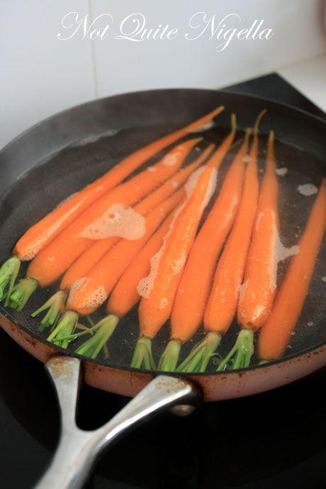 carrots simmering