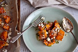 Roast Pumpkin With Feta & Honey