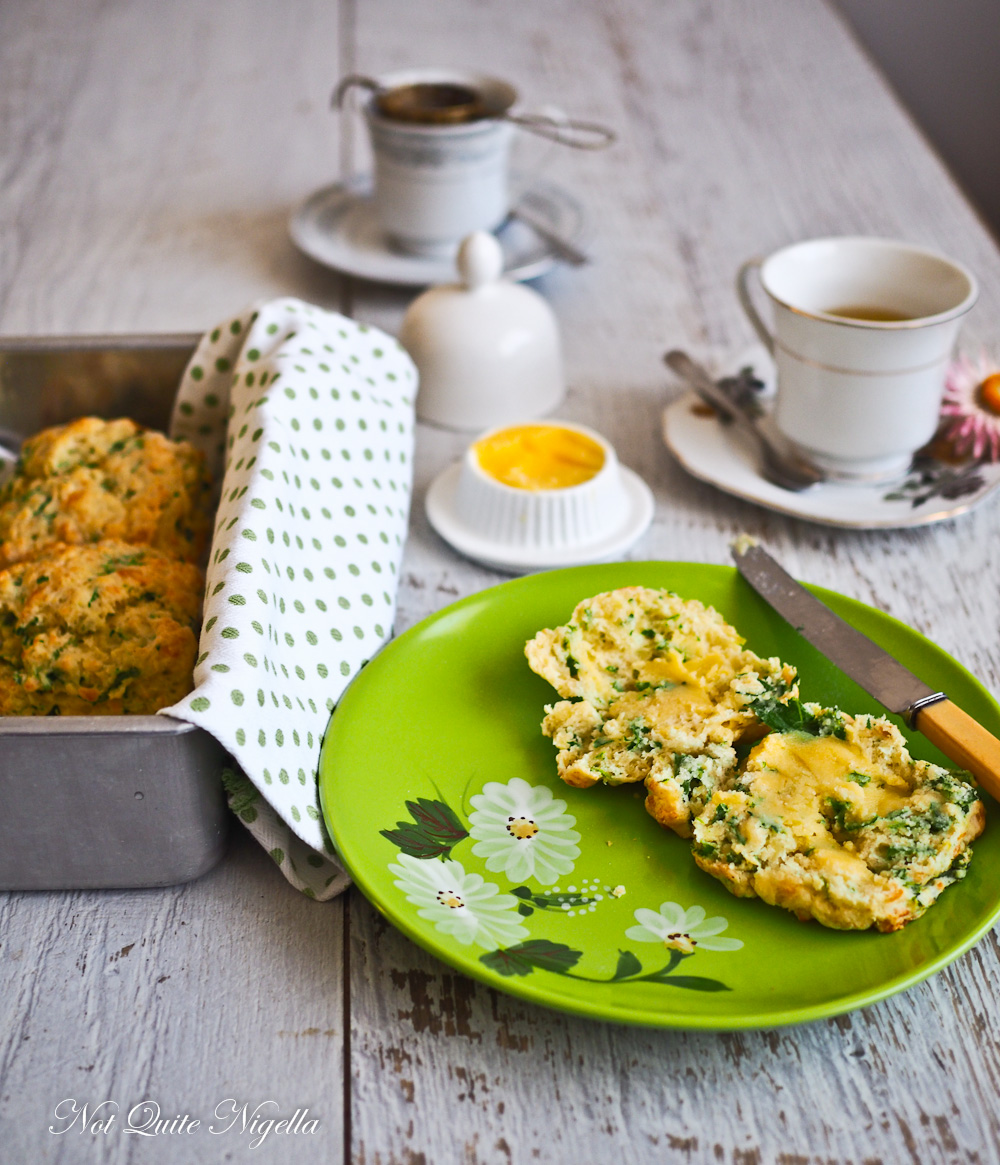 Rocket Arugula Cheese Scones