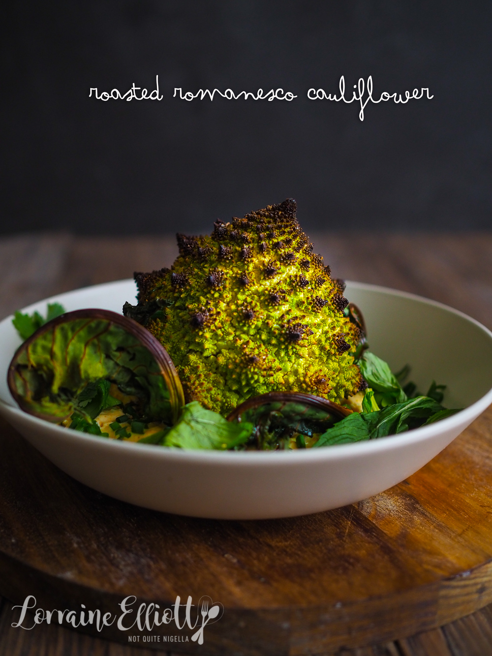 Whole Roasted Romanesco Cauliflower Broccoli